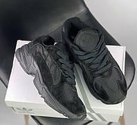 Adidas Yung-1 Triple Black | кроссовки мужские и женские; черные