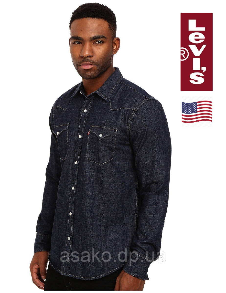 c6c87f6c5f9b7 Мужская Джинсовая Рубашка Levi's®(США)/100% Хлопок /Оригинал Из США ...