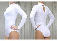 Купальник гимнастический стойка горло капля на спинке.