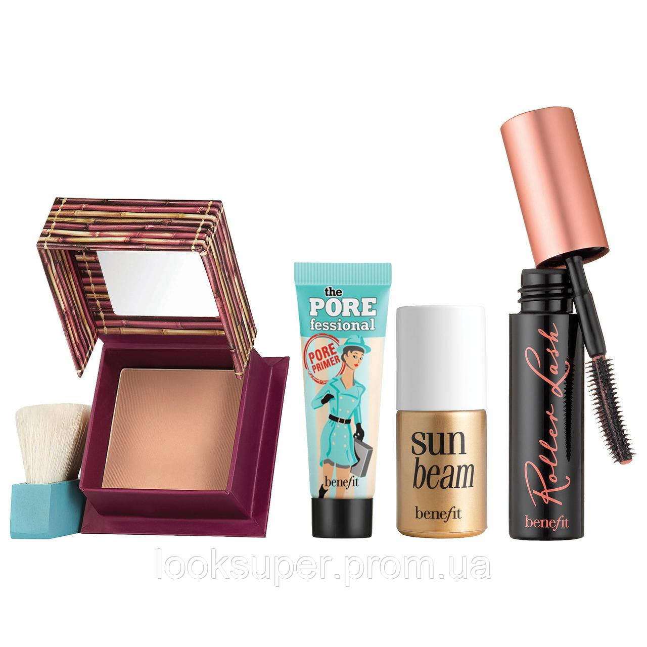 Набор миниатюр для макияжа в косметичке BENEFIT  The beachlorette