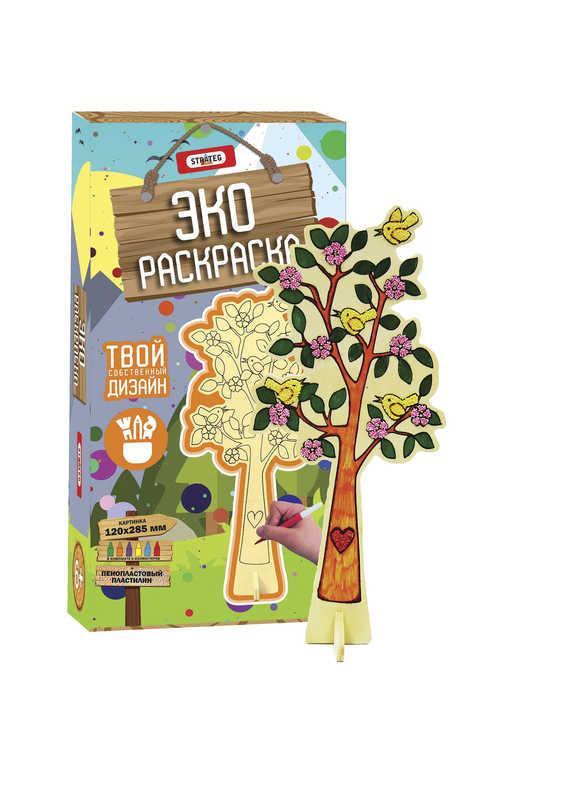 гр эко раскраска дерево 5002 10 Strateg