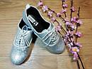 Серебристые стильные туфли на шнурках Crazy8 (США) (Размер 20 см), фото 3