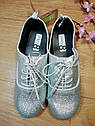 Серебристые стильные туфли на шнурках Crazy8 (США) (Размер 20 см), фото 4