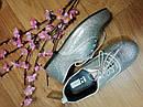 Сріблясті стильні туфлі на шнурках Crazy8 (США) (Розмір 20 см), фото 2
