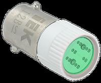 Лампа сменная  зеленая матрица 24B IEK (BMS10-024-K06)