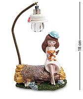 """Статуэтка """"Девочка с мишкой под фонарем"""" MN-112A"""