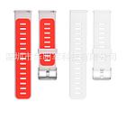 Ремешок Sport Dual Color для Xiaomi AMAZFIT Pace / Stratos / 22 мм White / Red (Белый / Красный), фото 2