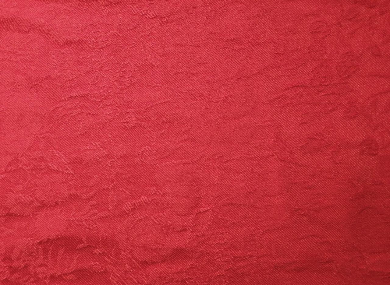 Бенгалин жаккард цветочный, красный