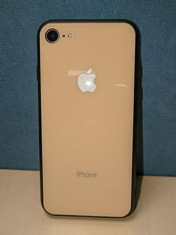Чехол стеклянный Кремовый для Iphone 8 бампер стеклянный оригинальный cream РАСПРОДАЖА!!!