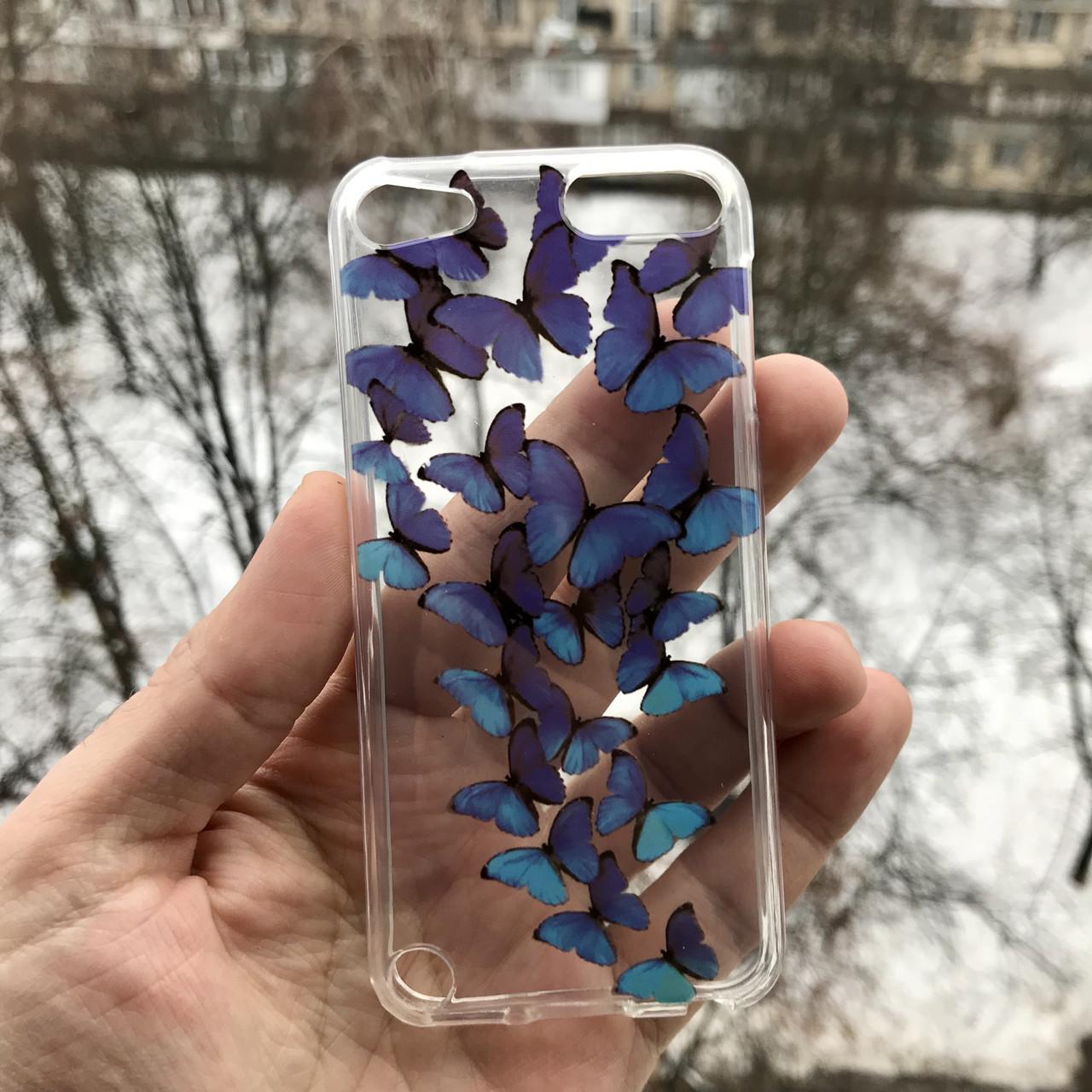 Чехол бабочки для Apple iPodtouch 5\6\7 + защитная пленка на экран в подарок