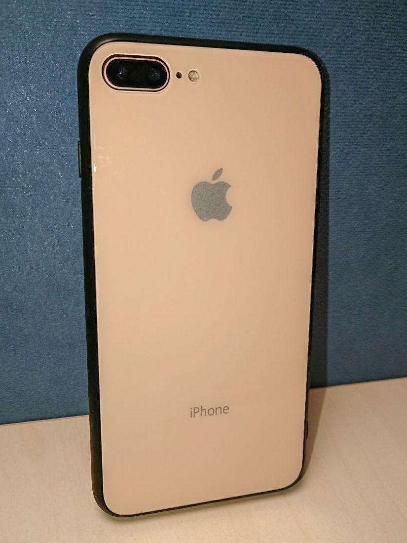 Чехол стеклянный Кремовый для Iphone 8 plus бампер стеклянный cream РАСПРОДАЖА!!!