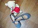 Стильные замшевые оригинальные туфельки на девочку H&M (Размер 31, 20см), фото 3