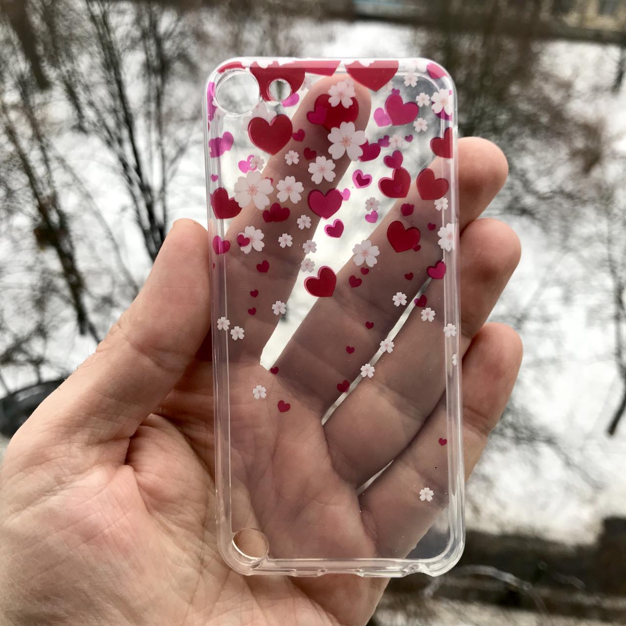 Чехол цветы для Apple iPodtouch 5\6\7 + защитная пленка на экран в подарок