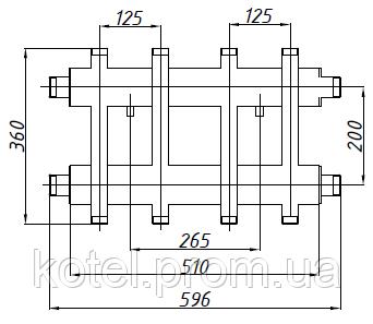 Схема коллектора СК 272.125 с универсальным подключением