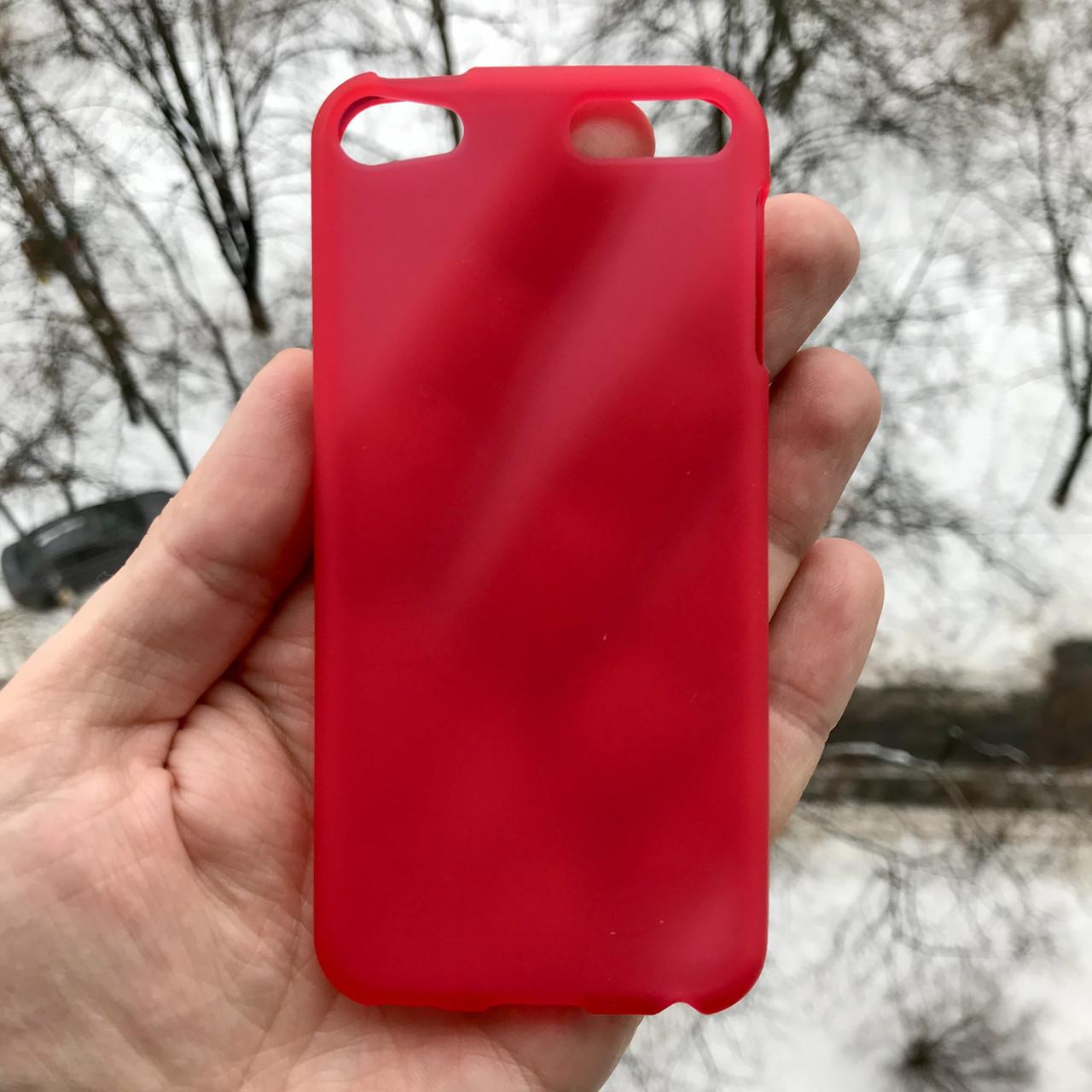Матовый полиуретановый чехол для iPod touch 5/6 + защитная пленка на экран