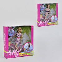 Набор Кукла с велосипедом 99043 (24) 2 вида, в коробке