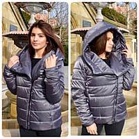 Новинка!. Модная куртка, арт М523, цвет серо-зеленый