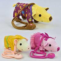Музыкальная игрушка Свинка на д/у С 30482 (36) 3 вида, музыкальная, ходит, танцует, поёт 2 песенки на русском языке, в кульке