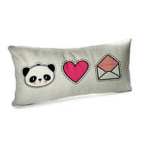 Подушка для дивана бархатная 50х24 см