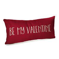 Подушка для дивана бархатная 50х24 см День Валентина
