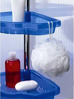 Полка в ванную Prima Nova голубая прозрачная