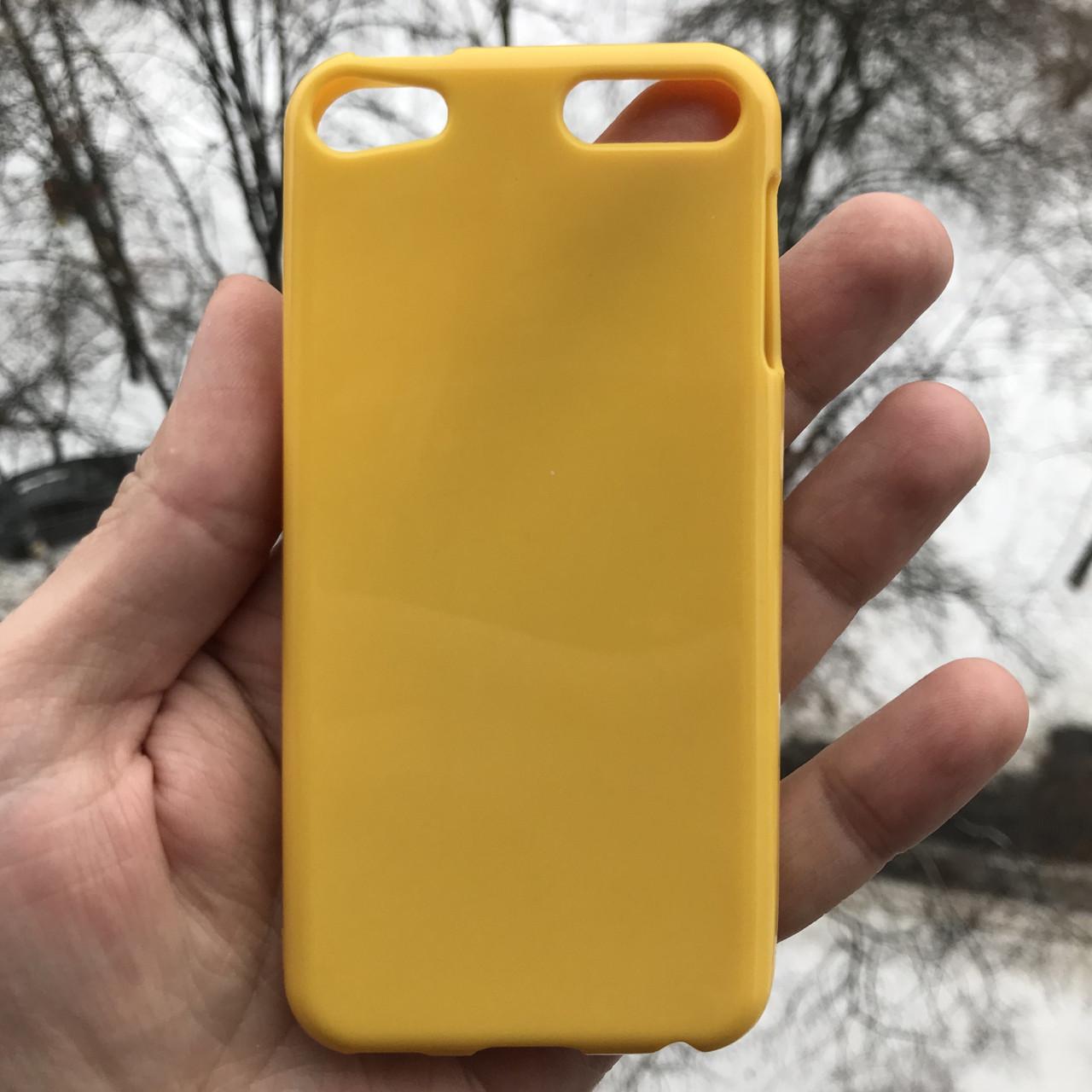 Глянцевый полиуретановый чехол для Apple iPodtouch 5\6\7 + пленка в подарок