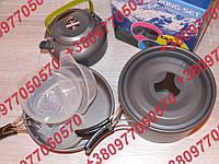 Туристический набор посуды на 3 человек Сковородка Кастрюля Чайник