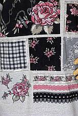 Жіночий реглан,кофта із квітковим принтом і стразами , фото 3