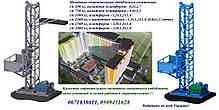 Н-31 м, г/п 500 кг. Грузовые мачтовые подъёмники секционные с выкатной платформой. Строительный подъёмник., фото 3