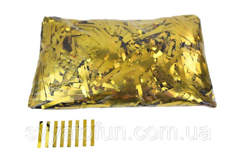 "Конфетти ""Тонкие полоски"", цвет золото, 250 г."