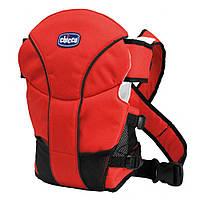 Эрго рюкзак-кенгуру Chicco GO BABY red, для новорожденных, нагрудная переноска для ребенка.