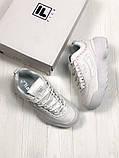 Кроссовки белые кожаные Fila Disruptor, фото 4