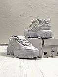 Кроссовки белые кожаные Fila Disruptor, фото 2