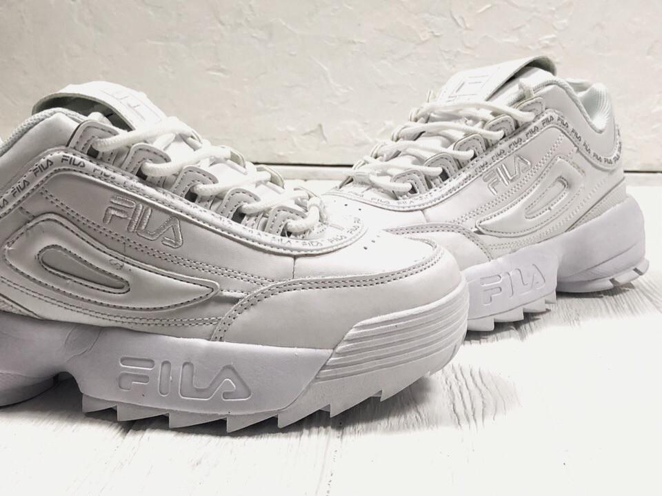 Кроссовки белые кожаные Fila Disruptor