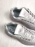 Кроссовки белые кожаные Fila Disruptor, фото 5