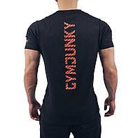 Чоловіча футболка для фітнесу GYM НАРКОМАН 2, чорна, фото 1