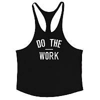 Мужская майка для бодибилдинга DO THE WORK 03, черная