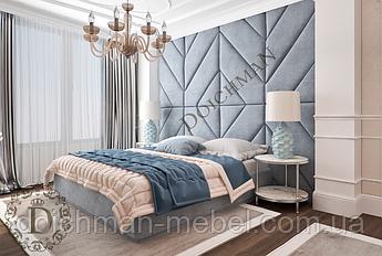 Кровать со стеновой панелью на всю стену