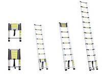 Телескопические приставные лестницы