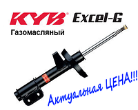 Амортизатор передній Nissan Micra III (K12) (2003-2010) Kayaba Excel-G газомасляний левывй 333722