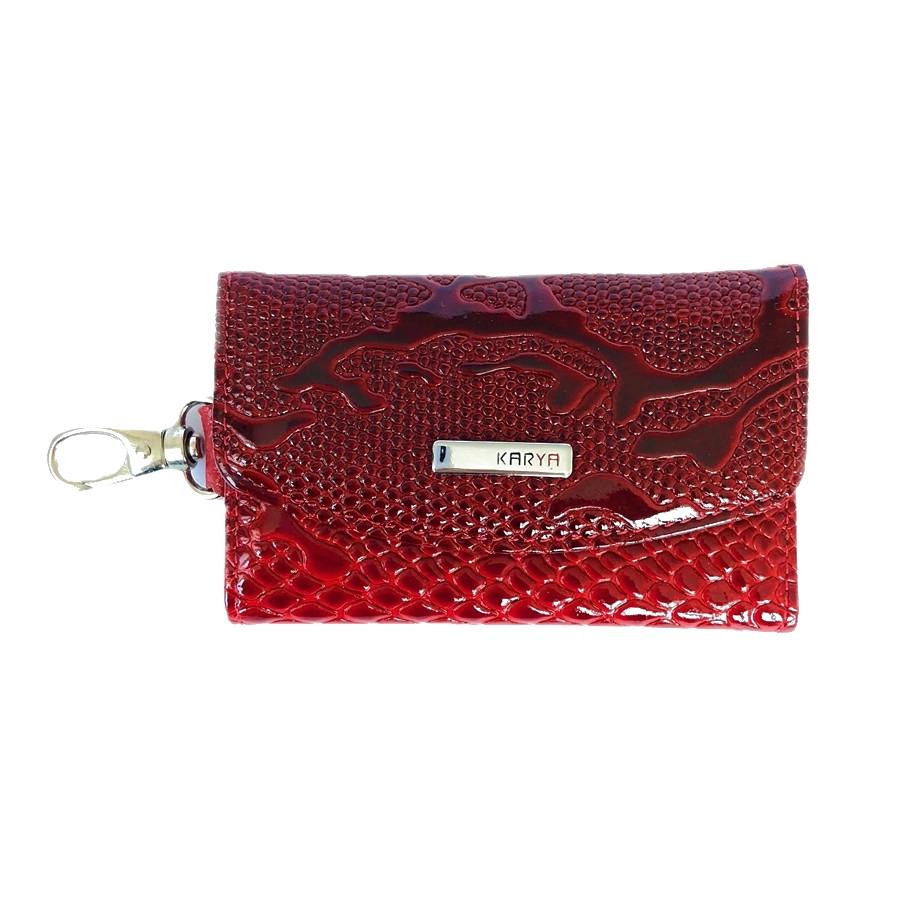 Ключница кожаная Karya 434-019 лаковая красная