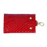 Ключница кожаная Karya 434-019 лаковая красная , фото 3