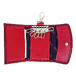Ключница кожаная Karya 434-019 лаковая красная , фото 4