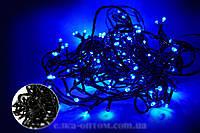 Гирлянда новогодняя 100 black wire bullet  BLUE !Скидка