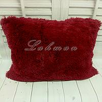 Чехол для подушки травка  50х70 см., цвет гранатовый
