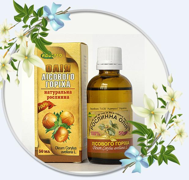Растительное масло «Лесного ореха»50мл-способствует устранению неврозов и эффективно при проблемах с суставами
