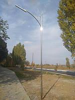 """Опора освещения парковая """"Одесса"""" с линейным LED светильником"""