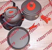 Туристический набор посуды Alocs CW-19T 4х Кастрюля Сковородка Чайник