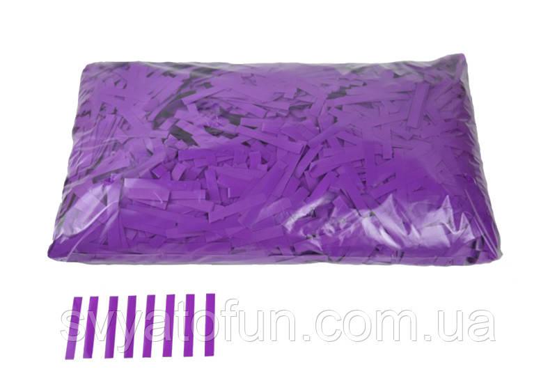 """Конфетти """"Тонкие полоски"""", цвет фиолетовый, 250 г."""
