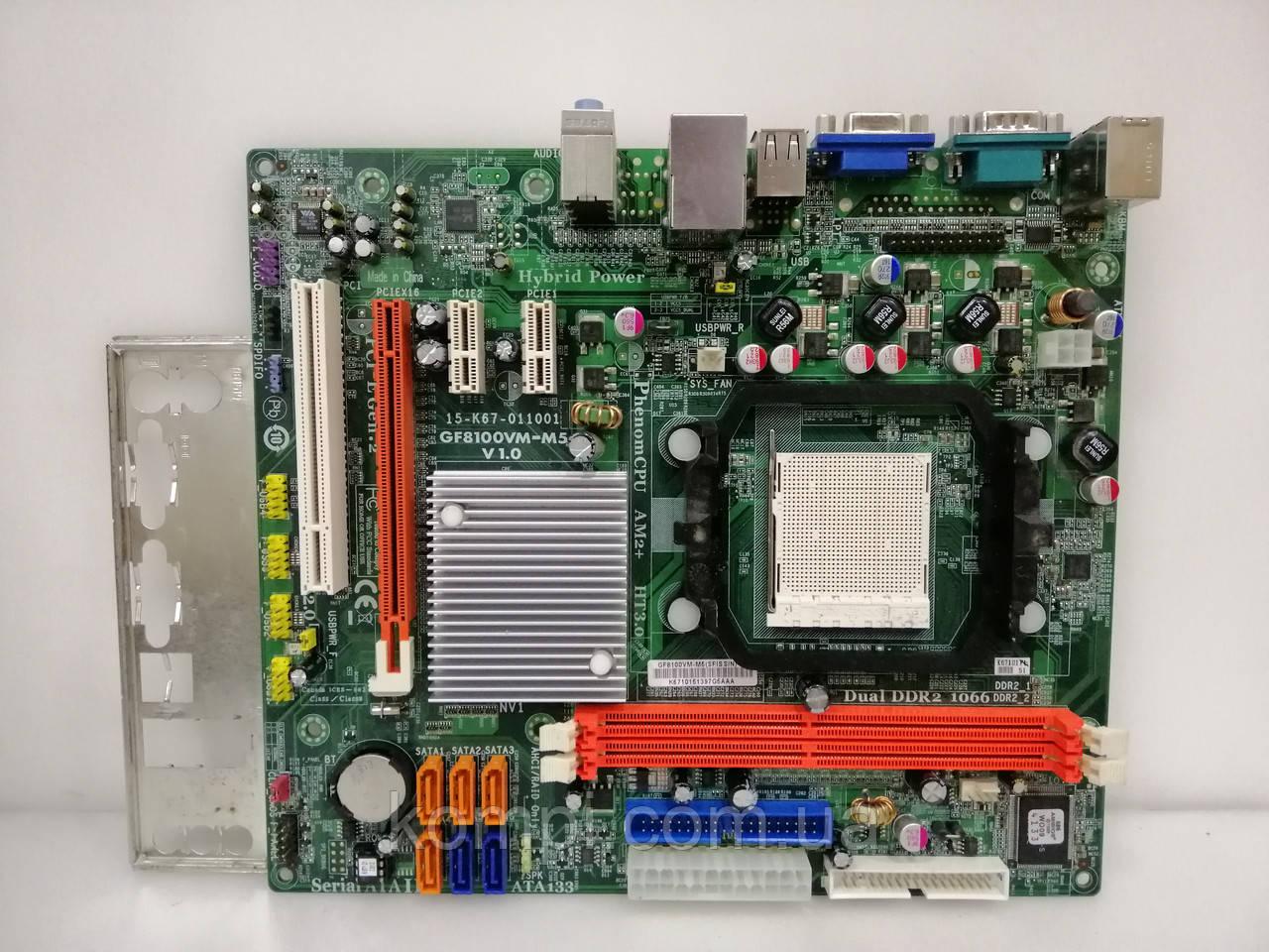 Материнская плата ECS GF8100VM-M5 AM2/AM2+  DDR2
